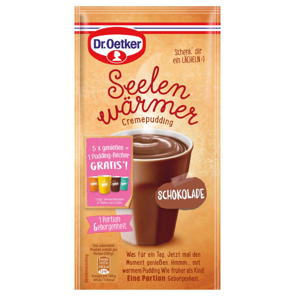 Seelenwärmer Pudding Schokolade