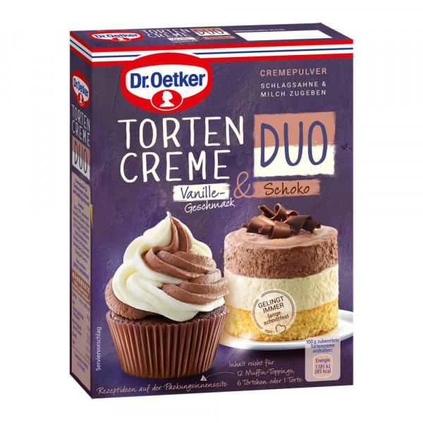 Tortencreme Duo Vanille-Geschmack & Schoko