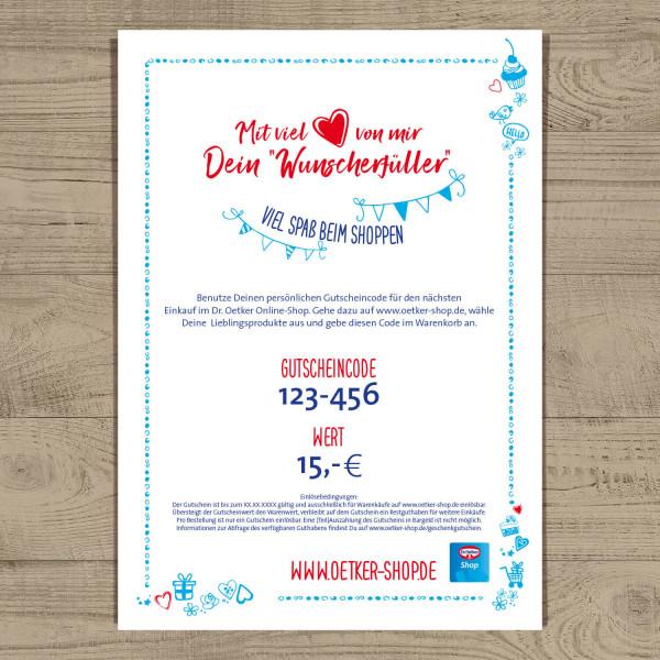Gutschein Dr. Oetker Shop 15 Euro