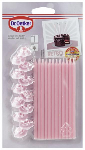 24 Kerzen, rosafarben