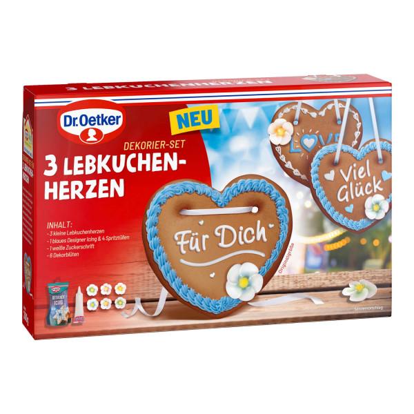 """Dekorier-Set """"3 Lebkuchenherzen"""""""