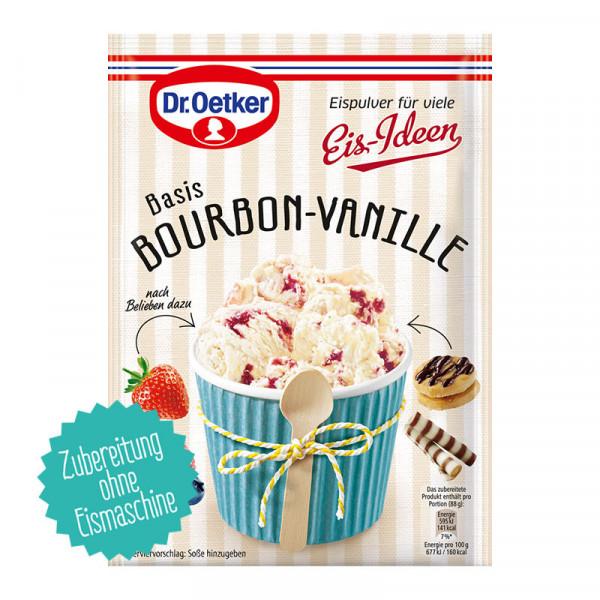 Eispulver Bourbon-Vanille