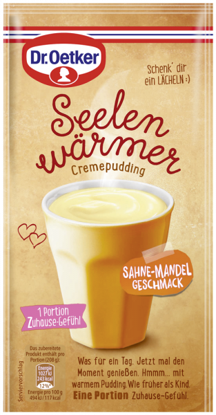 Seelenwärmer Pudding Sahne-Mandel