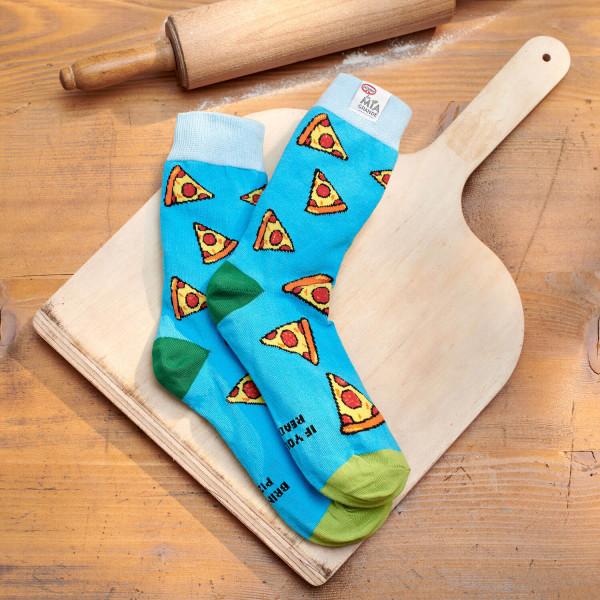 Pizza-Socken, Größe 37/41