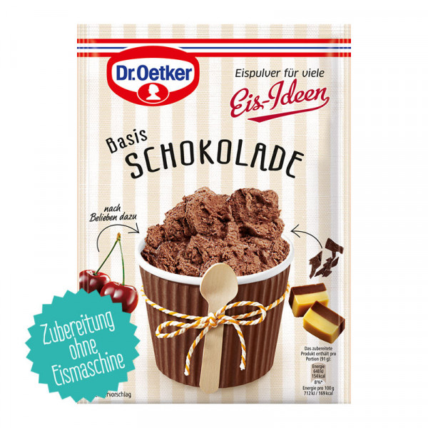 Eispulver Schokolade