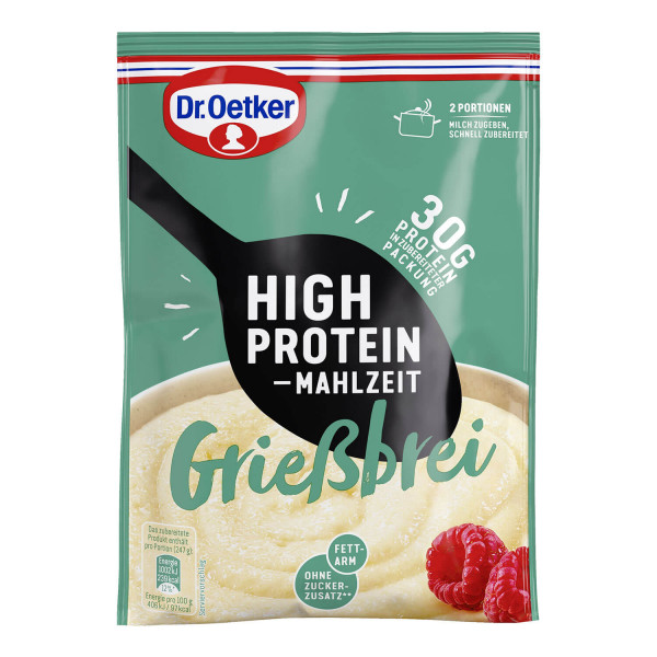 High Protein Mahlzeit Grießbrei
