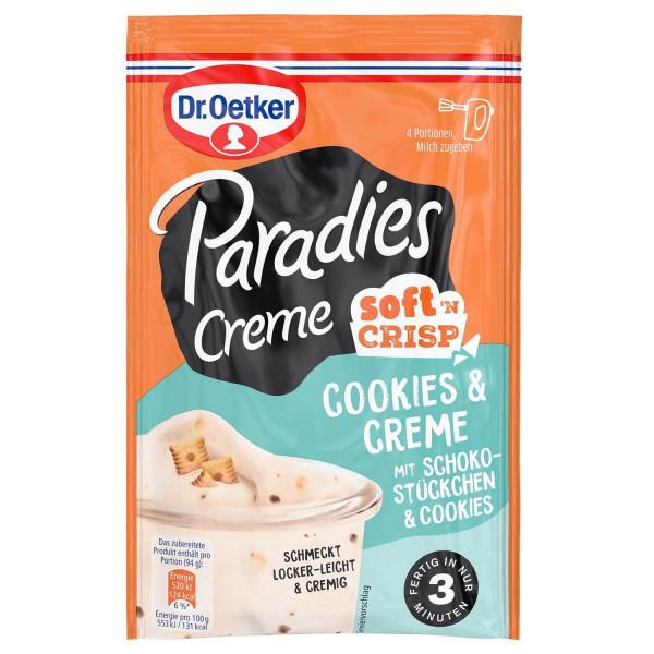 Paradies Creme Soft'n Crisp Cookies & Creme mit Schokostückchen & Cookies