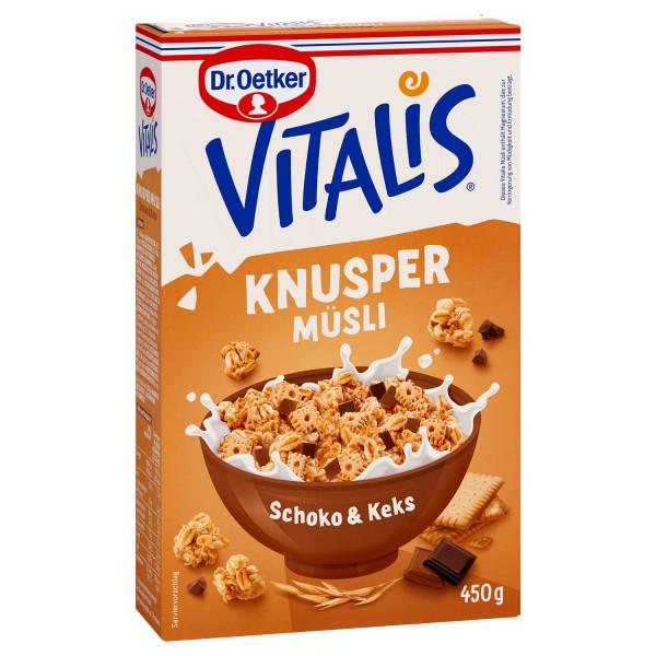 Vitalis Knuspermüsli Schoko + Keks 450g