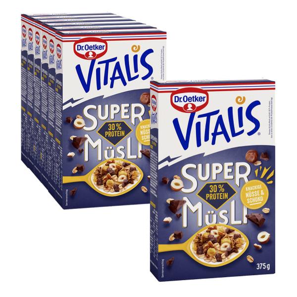 Vitalis SuperMüsli 30% Protein, 6er Pack + 1 gratis