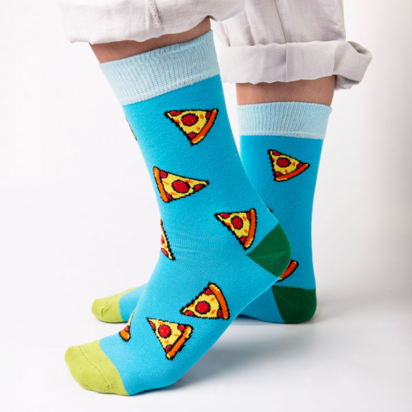 Pizza-Socken, Größe 42/46