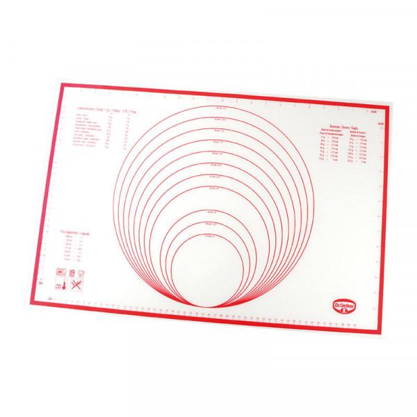 Silikon-Ausrollmatte, 60 x 40 cm, für Teig, Fondant und Marzipan