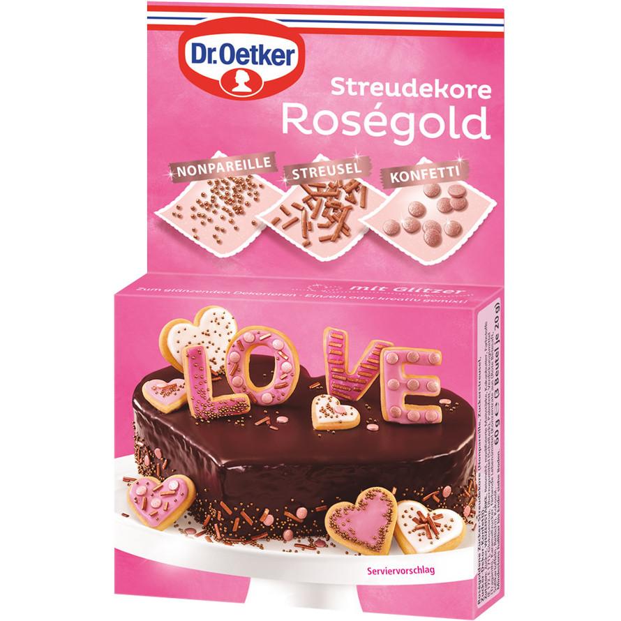 Streudekore Roségold